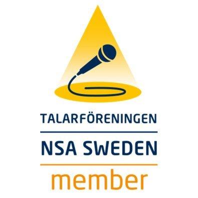 Talarföreningen NSA Swedens medelmslogga